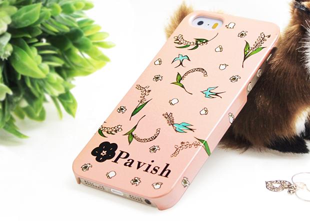 13輪のすずらん(ピンク)iPhoneケース Pabvish 開運 恋愛運