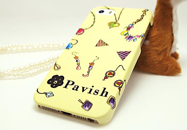 イエローゴージャス iPhoneケース Pabvish シームレスパターン 開運 金運アップ ジュエリー