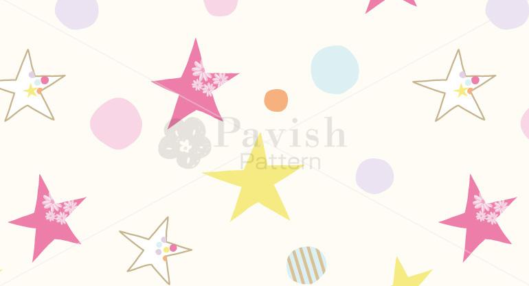 心を癒やすパステルカラーとチャンスをもたらすスターのパターン Pavish パビッシュ