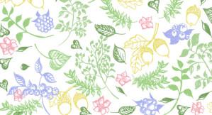 2015年のラッキーモチーフ 植物 ボタニカル 開運Pavishパターン