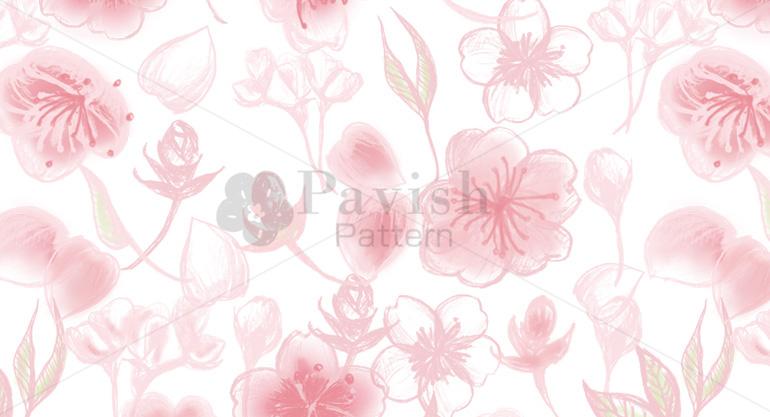 桜のシームレスパターン(Pavish Pattern)