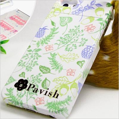 Pavish Patternを使って作ったiPhoneケース(ボタニカル柄)