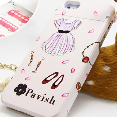 ピンクの幸せ 恋愛運アップ Pavish パターン iPhoneケース