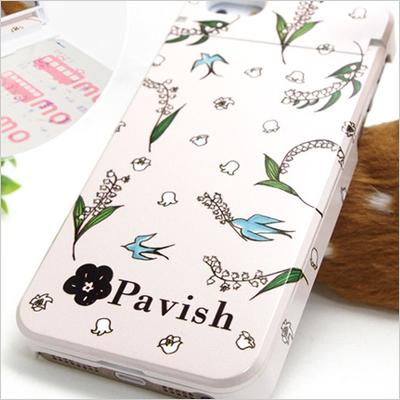 Pavish Patternを使って作ったiPhoneケース(13輪のすずらん)
