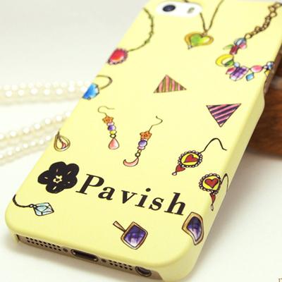 金運アップ★イエローゴージャス iPhoneケース【Pavish Pattern】