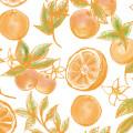 非常に大きな幸運を表すマンダリンオレンジのパターン