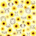 金運アップ ひまわりと動物のパターン柄 Pavish Pattern