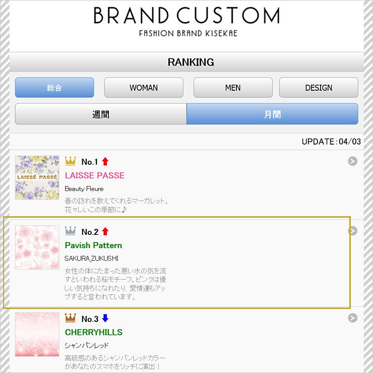 ブランド公式カスタム ランキング2位入賞【Pavish Pattern】