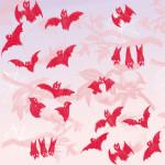 幸運の赤コウモリのパターン柄【Pavish pattern】