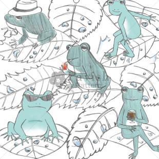 かっこいいカエルのパターン柄【Pavish Pattern】