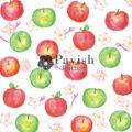 りんごとその花のパターン柄【Pavish Pattern】