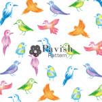 美しい鳥のパターン柄【Pavish Pattern】
