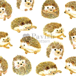 幸せなハリネズミのパターン【Pavish Pattern】