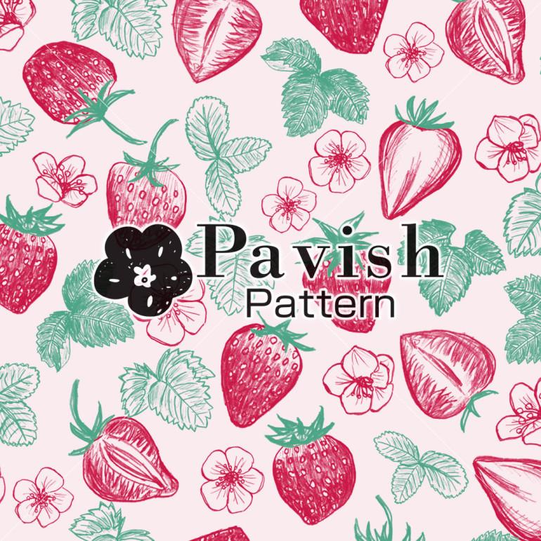 いちごのパターン【Pavish Pattern】