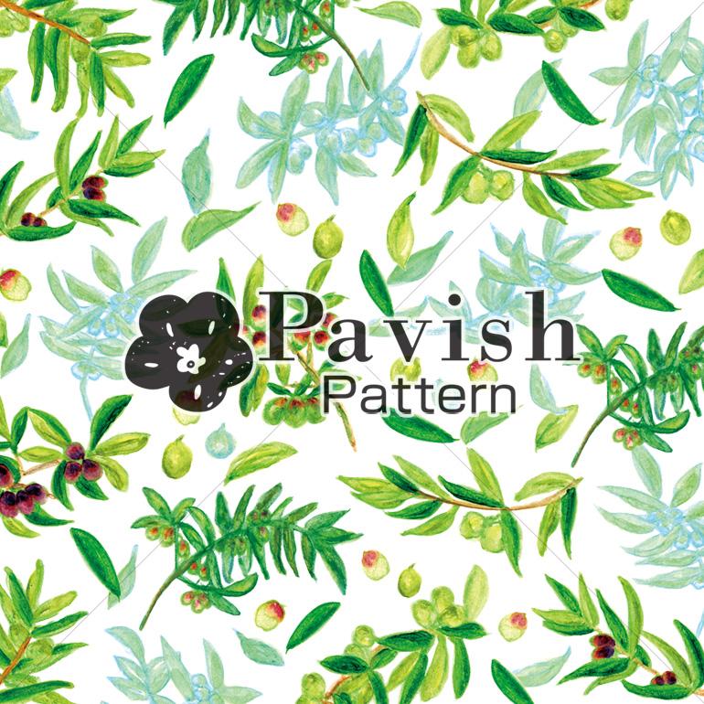 平和の象徴オリーブ柄(Pavish Pattern)
