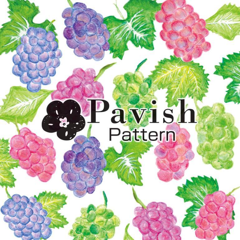 ぶどうのパターン柄【Pavish Pattern】