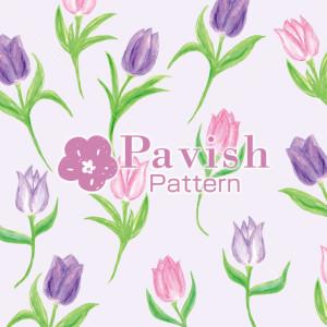 チューリップのパターン【Pavish Pattern】
