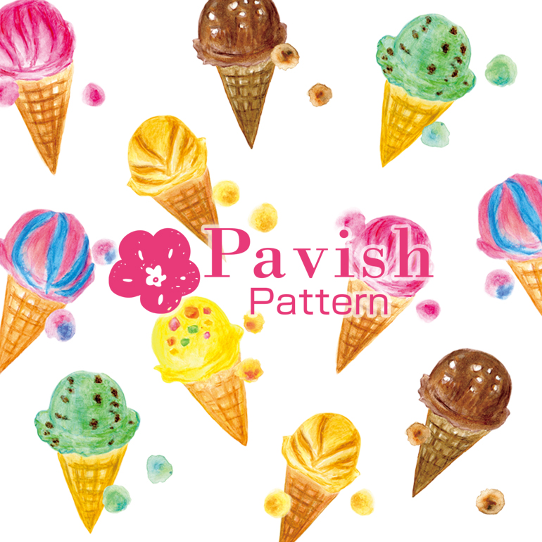 アイス柄【Pavish Pattern】