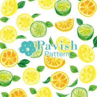 シトラス柄【Pavish Pattern】