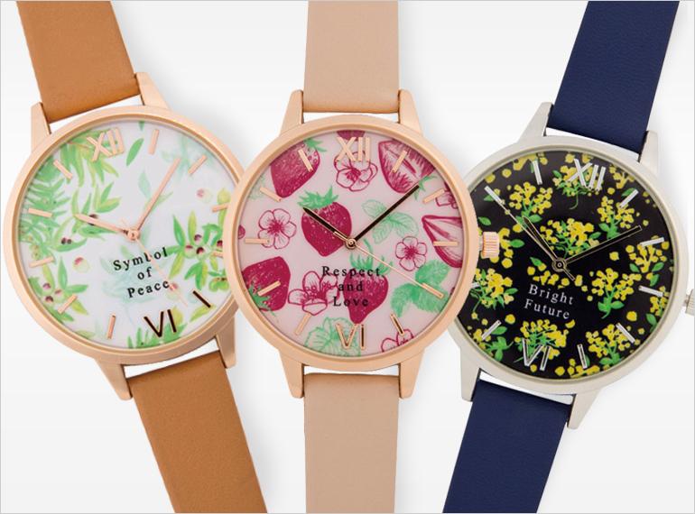 HAPiNSコラボ 腕時計【Pavish Pattern】