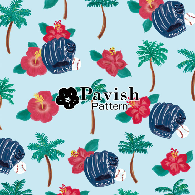 ソフトバンクホークス東浜選手うちなーグッズ用パターン【Pavish Pattern】