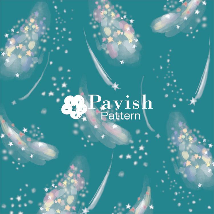 ミルキーウェイ グリーン【Pavish Pattern】