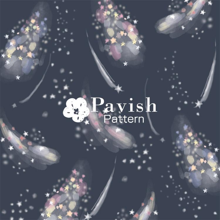 ミルキーウェイ グレイ【Pavish Pattern】