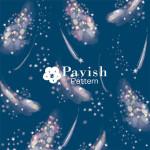 ミルキーウェイ ネイビー【Pavish Pattern】
