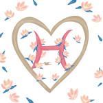 Pavishイニシャルシリーズ【H】ハートモチーフ