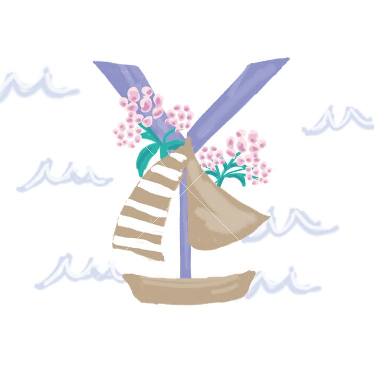 Pavishイニシャルシリーズ ヨット【Y