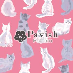 HAPiNSコラボ ねこのパターン(ピンク)【Pavish Pattern】