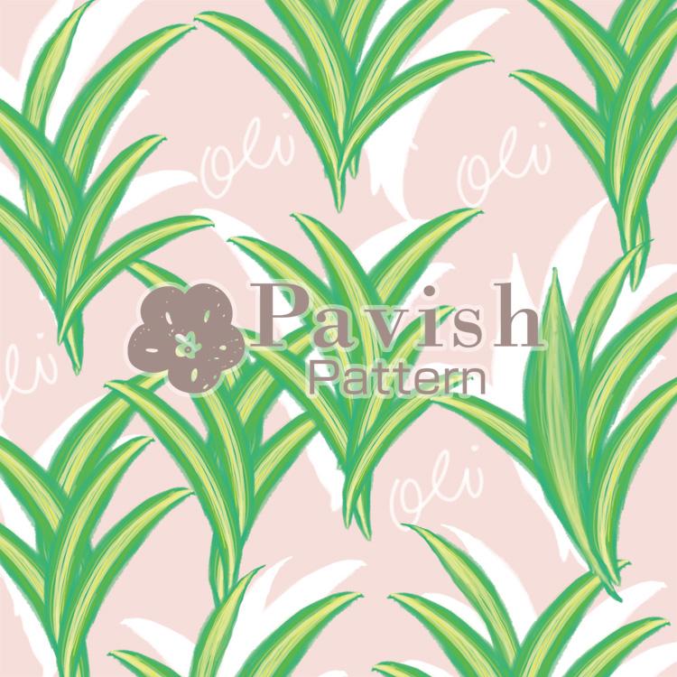 幸運の木ドラセナのパターン ピンク【Pavish Pattern】