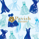 Something Blue 青いドレスのパターン(総柄)【Pavish Pattern】
