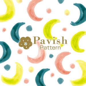 月のパターン(総柄)【Pavish Pattern】