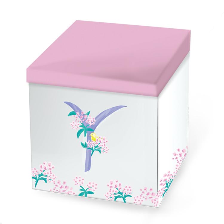 Pavishイニシャルシリーズ 黄色い鳥 化粧箱【Y】