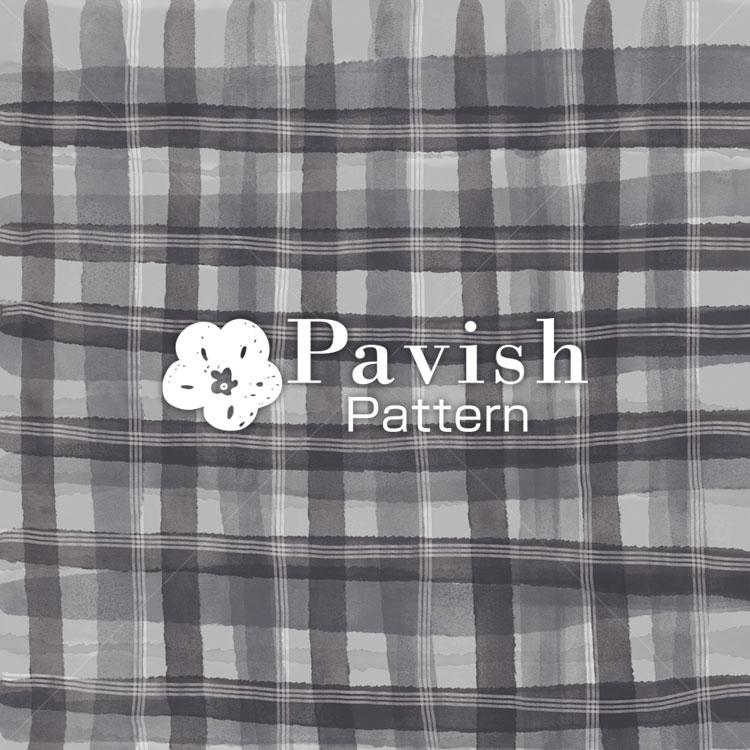 チェック柄 グレー【Pavish Pattern】