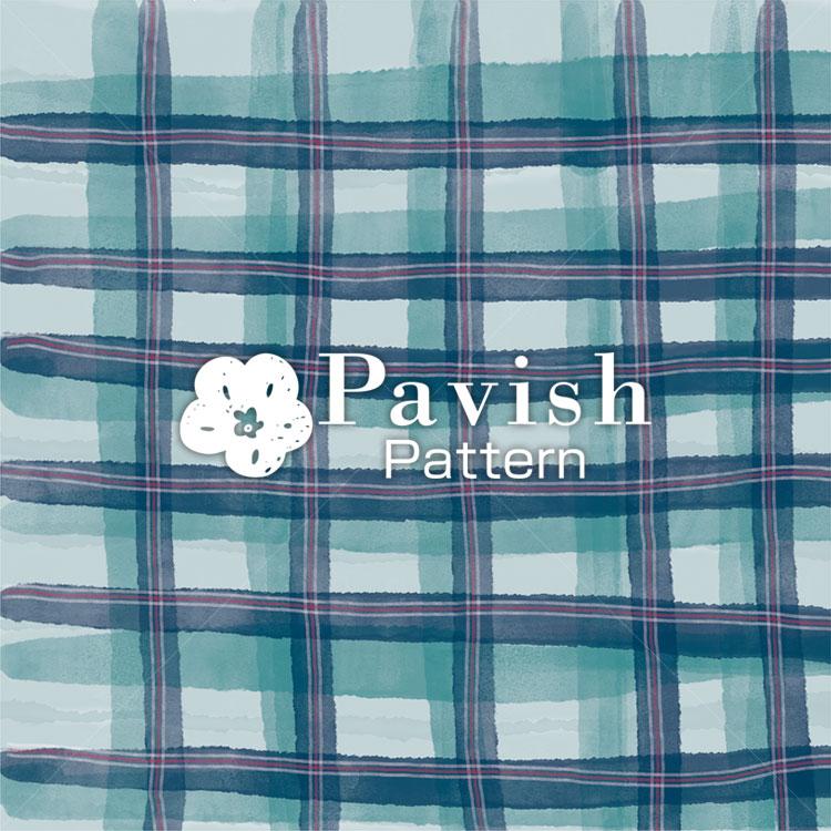 チェック柄 グリーン【Pavish Pattern】