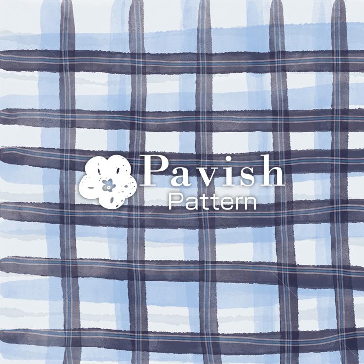 チェック柄 ネイビー【Pavish Pattern】