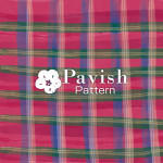 チェック柄 レッド✕グリーン【Pavish Pattern】
