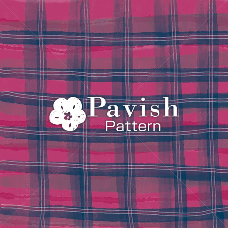 チェック柄 レッド✕ネイビー【PavishPattern】