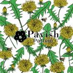 たんぽぽとミツバチのパターン【Pavish Pattern】