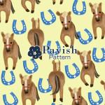 馬と馬蹄のパターン(黄色)【Pavish Pattern】