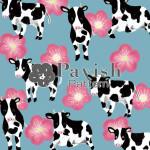 牛と梅のパターン【Pavish Pattern】