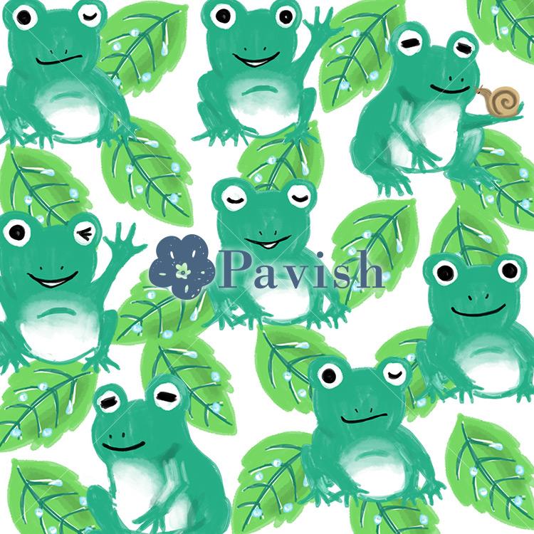 癒し系のカエル【Pavish Pattern】