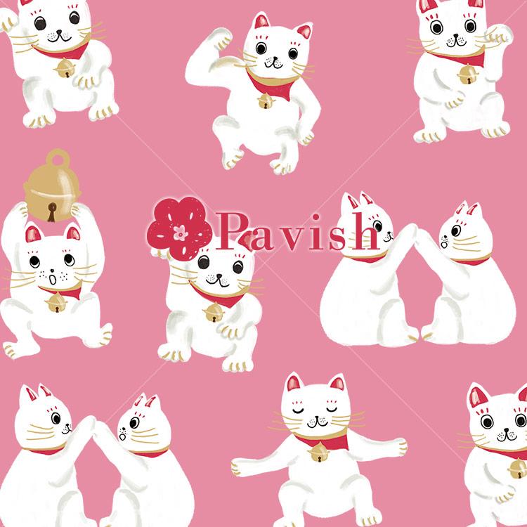 招き猫のパターン【Pavish Pattern】
