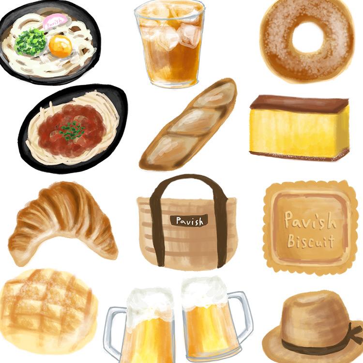 麦から生まれた食べ物やグッズ【Pavish Pattern】